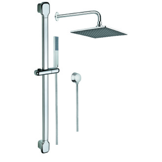 Shower System Shower System with Chrome Hand Shower with Sliding Rail, with Water Connection SUP1002 Gedy SUP1002