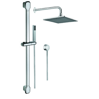 Shower System Shower System with Hand Shower with Sliding Rail, Showerhead, and Water Connection SUP1006 Gedy SUP1006