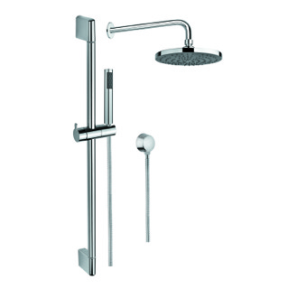 Shower System Chrome Shower System with Hand Shower with Sliding Rail, Showerhead, and Water Connection SUP1010 Gedy SUP1010