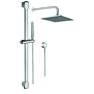Shower System Shower System with Chrome Hand Shower, Sliding Rail, Showerhead, and Water Connection SUP1017 Gedy SUP1017