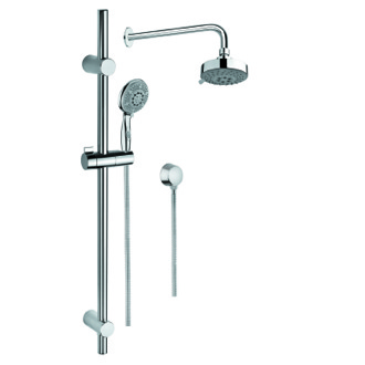 Shower System Chrome Shower Solution with Hand Shower with Sliding Rail, Showerhead, and Water Connection SUP1023 Gedy SUP1023