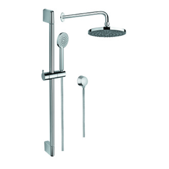 Shower System Chrome Shower Solution with Hand Shower, Sliding Rail, Showerhead, and Water Connection SUP1038 Gedy SUP1038