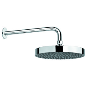 Shower System Chrome ABS Rain Shower Head and 16 Inch Stainless Steel Shower Arm SUP1121 Gedy SUP1121