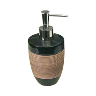 Soap Dispenser Round Moka Pottery Soap Dispenser Gedy TU81-29