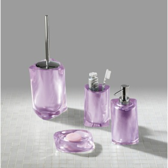 Bathroom Accessory Set Twist Lilac Accessory Set of Thermoplastic Resins TW100-79 Gedy TW100-79