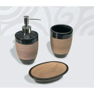 Tulip Round Moka Bathroom Accessory Set Gedy TU100