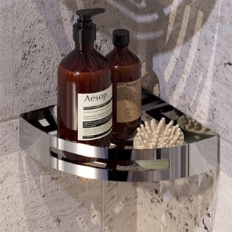 Chrome Corner Shower Basket Gedy 2479-13