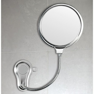 2 Faced Shatterproof Polished Steel Bathroom Mirror Gedy HO08-13