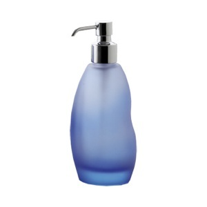 Soap Dispenser Round Blue Glass Soap Dispenser 4481-11 Gedy 4481-11