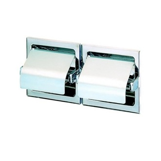 Toilet Paper Holder Recessed Double Toilet Roll Holder with Cover 117 Geesa 117