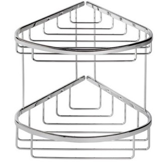 Chrome 2 Tier (Double) Shower Basket Geesa 183