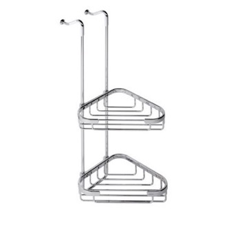 Shower Basket Over-the-Door Chrome Corner Double Shower Basket 251 Geesa 251