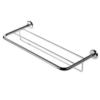 Train Rack Chrome Towel Rack or Towel Shelf with Towel Bar Geesa 5352