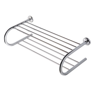 Train Rack Chrome Towel Rack or Towel Shelf with Towel Bar 5355 Geesa 5355