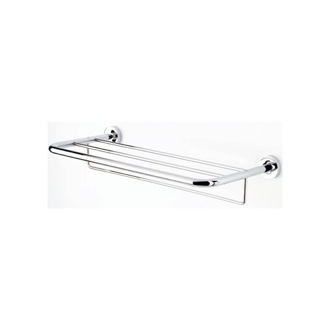 24 Inch Chrome Towel Rack or Towel Shelf with Towel Bar Geesa 5552