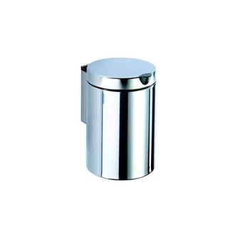 Waste Basket Stainless Steel Round Wall Mounted Bathroom Waste Bin 624-C Geesa 624-C