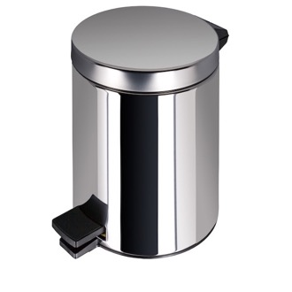 Waste Basket Stainless Steel Bathroom Pedal Waste Bin 625-C Geesa 625-C