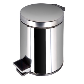 Waste Basket Stainless Steel Bathroom Pedal Waste Bin 626-C Geesa 626-C