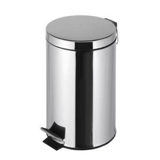Waste Basket Free Standing Round Bathroom Waste Bin with Pedal 636 Geesa 636