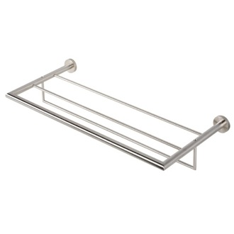 Train Rack Stainless Steel Towel Rack or Towel Shelf with Towel Bar Geesa 6552-05