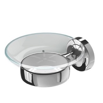 Wall Mounted Chrome Br And Gl Soap Dish Geesa 7303 02