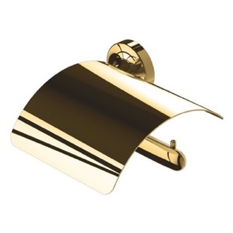 Toilet Paper Holder Wall Mounted Gold Brass Toilet Paper Holder 7308-04-R Geesa 7308-04-R