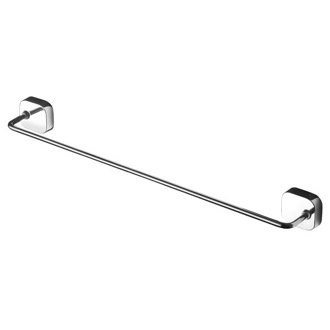 Towel Bar Round Wall Mounted Chrome Towel Bar 2407-02-45 Geesa 2407-02-45