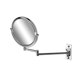 Makeup Mirror Chrome Round Wall Mounted Double Face 3x Magnifying Mirror 1086 Geesa 1086