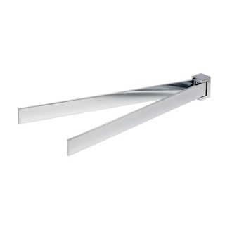 Swivel Towel Bar 16 Inch Chrome Two Arm Swivel Towel Bar 3505-02 Geesa 3505-02