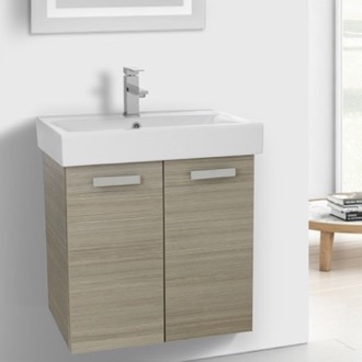 24 Inch Larch Canapa Wall Mount Bathroom Vanity with Fitted Ceramic Sink ACF C144