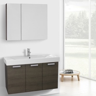 39 Inch Grey Oak Bathroom Vanity Set ACF C82