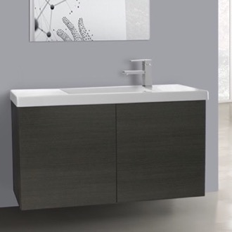 Bathroom Vanity 39 Inch Grey Oak Bathroom Vanity with Ceramic Sink Iotti HD12