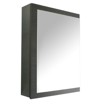 Medicine Cabinet Gray Oak Medicine Cabinet With Mirrored Door Iotti AP07