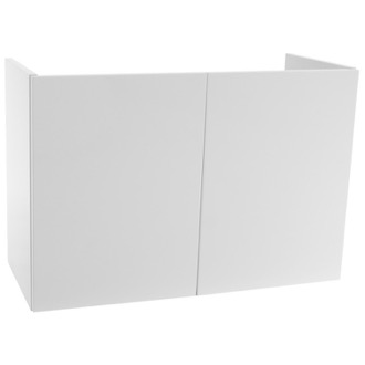 Vanity Cabinet 31 Inch Wall Mount Glossy White Bathroom Vanity Cabinet Iotti DH04