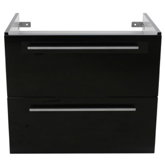 Vanity Cabinet 28 Inch Wall Mount Glossy Black Vanity Cabinet Iotti FN12