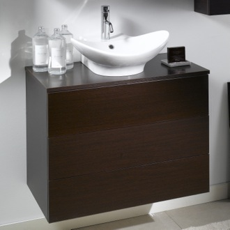 2 Drawers Vanity Cabinet with Vessel Sink Iotti NT9C
