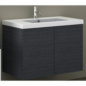31 Inch Vanity Cabinet with Self Rimming Sink Iotti SE02C