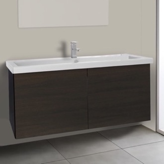 Bathroom Vanity 47 Inch Wenge Bathroom Vanity with Ceramic Sink Iotti SE24