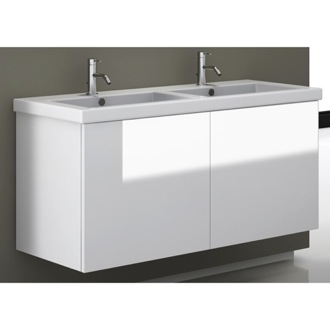 47 Inch Vanity Cabinet with Double Fitted Sink Iotti SE06C