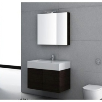 32 Inch Bathroom Vanity Set Iotti SM06-Wenge