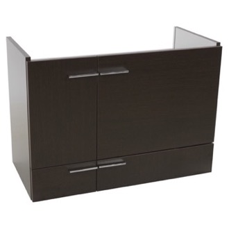30 Inch Wenge Wall Mounted Vanity Cabinet Iotti SN07