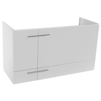 38 Inch Glossy White Wall Mounted Vanity Cabinet Iotti SN11