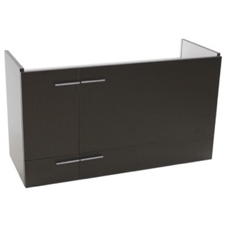 38 Inch Wenge Wall Mounted Vanity Cabinet Iotti SN12