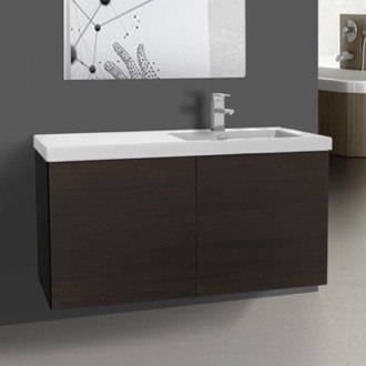 Bathroom Vanity 39 Inch Wenge Bathroom Vanity with Ceramic Sink Iotti SE21