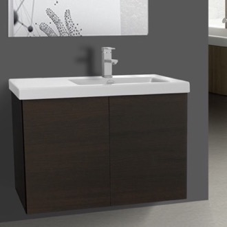31 Inch Vanity Cabinet with Self Rimming Sink Iotti SE07C