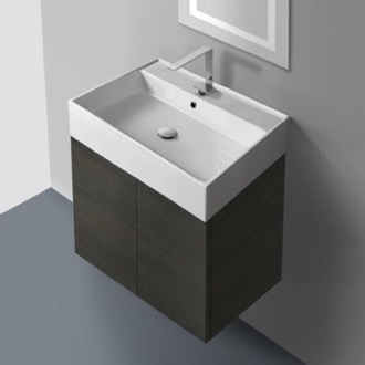 23 Inch Vanity Cabinet with Self Rimming Sink Iotti SM01C