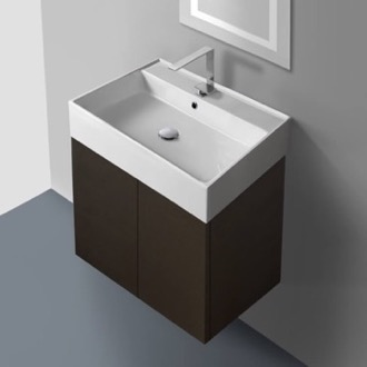 23 Inch Vanity Cabinet with Self Rimming Sink Iotti SM01C-Wenge