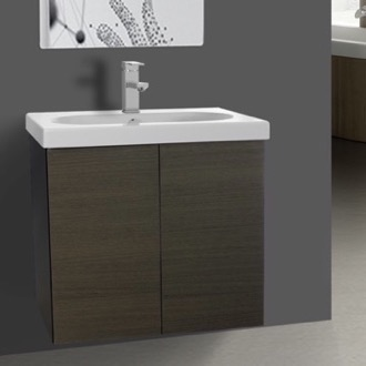 2 Doors Vanity Cabinet with Self Rimming Sink Iotti TR01C