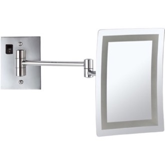 Makeup Mirror Wall Mounted Square LED 3x Makeup Mirror, Hardwired Nameeks AR7702