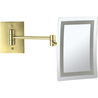 Makeup Mirror Gold Wall Mounted Square LED 3x Makeup Mirror AR7702-O Nameeks AR7702-O